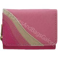 Ladies Bus Pass /Oyster Card Purse/Wallet Pink Leather Fabretti
