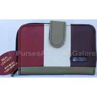 Lorenz Multi-Coloured Real Leather Purse 2 Section