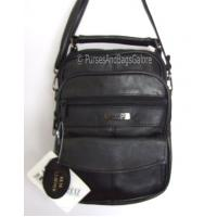 Shoulder / Handbag / Clutch Bag Black Leather Unisex