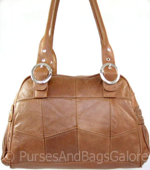 Shoulder Slouch Bag Tan Light Brown Leather By Lorenz