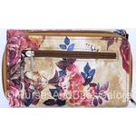 Fabretti Floral Design Faux Leather Credit Card / Note / Coin Pu