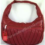 Red Nappa Leather Shoulder / Slouch Bag