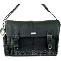 Lorenz Satchel / Shoulder bag in Black Cowhide Leather