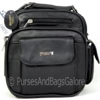 Lorenz Shoulder Bag Travel Bag Black Leather Unisex