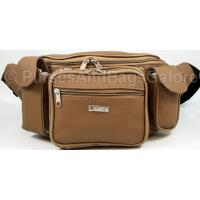 Very Large Cowhide Leather Bum Bag Tan / Light Brown