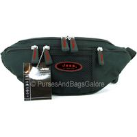 Jeep Legend Bum Bag with Phone Pocket, Black with Red Logo.