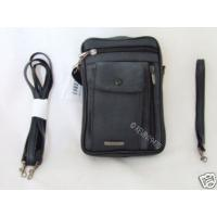Shoulder / Wrist Bag Black Leather Travel / Cabin / Money