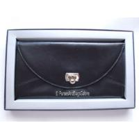 Travel Wallet Real Leather Black